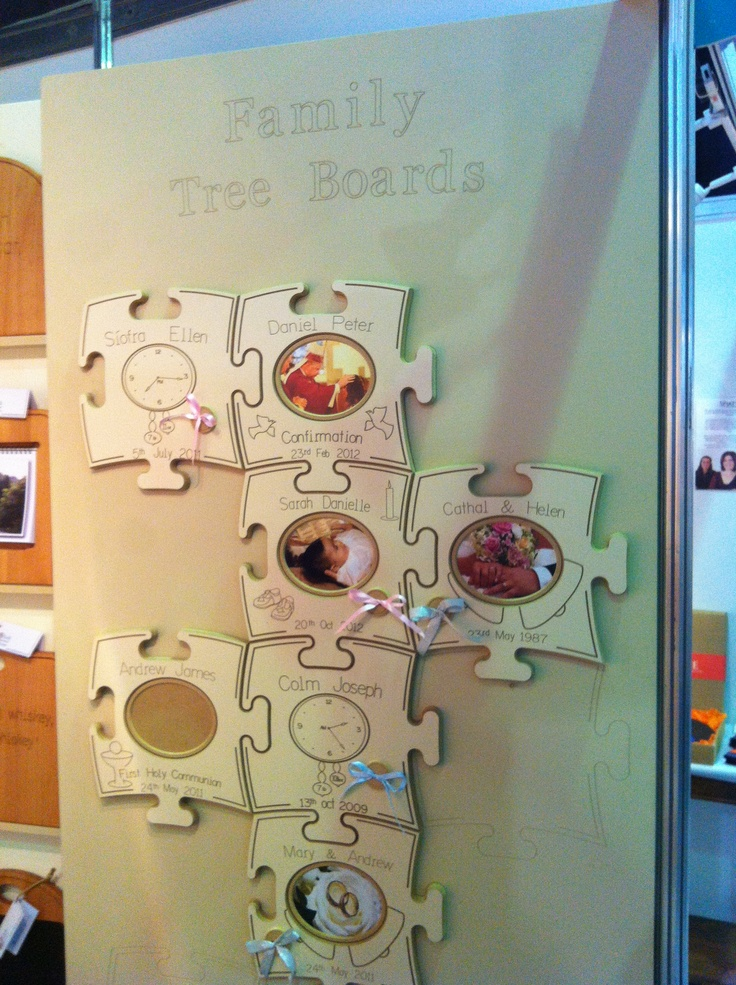 Family Tree boards, by Irish furniture store.