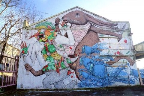 Blu con Ericailcane, a Bologna