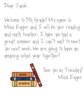 Welcome Letters (Students & Parents)