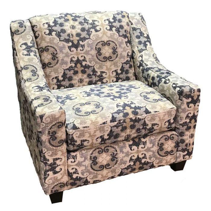 A Floral Pattern On A Classic Club Chair Bennington Accent Chair