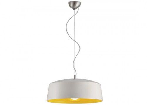 Κρεμαστό φωτιστικό λευκό-κίτρινο Φ43