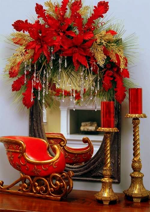 Lovely sled and mirror display