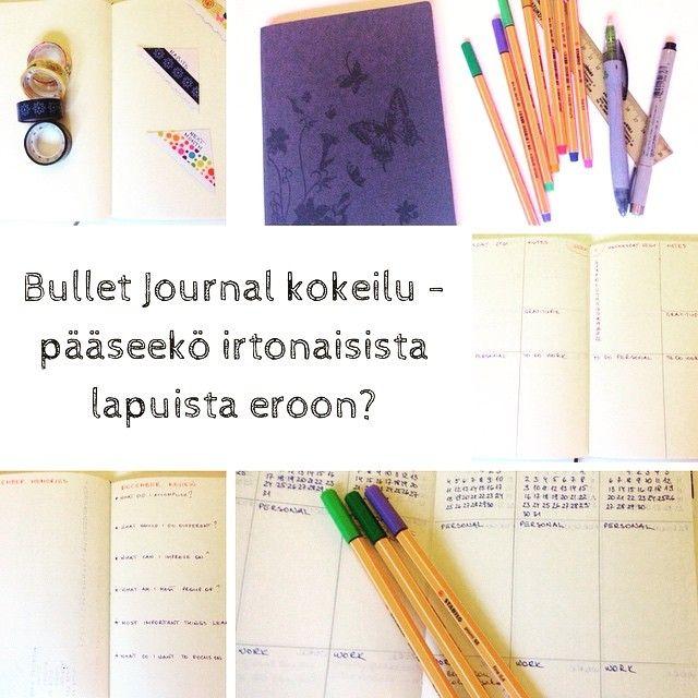 Aloitin joulukuun keskellä #bulletjournal kokeilun. 10 päivää jo kirjoitettu ja huomaa kyllä eron: irtonaisia (post-it) lappuja vähemmän, kaikki listat samassa paikassa. Etsinnässä vielä parhaat muodot, aukeamat ja listat. Kokeilua riittää. Lisää päivityksiä tulossa :) #bulletjournaling #bulletjournaljunkies #päiväkirja #aikataulu #lists #kiitollisuus