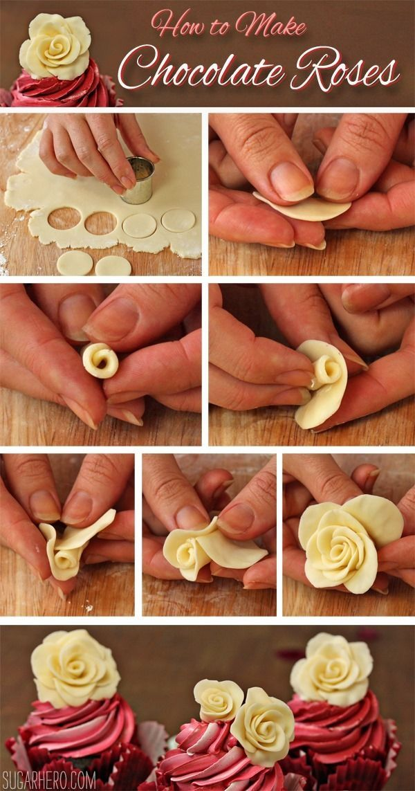 How to make Chocolate Roses. This would be perfect for almost any special occasion.