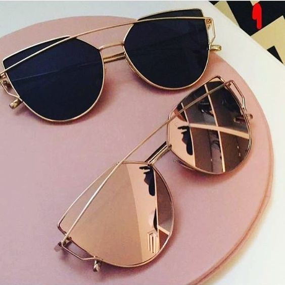 rose gold mirrored sunnies