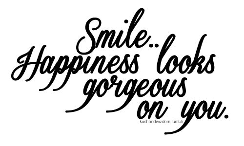 Smile! Happiness looks gorgeous on you #truestory