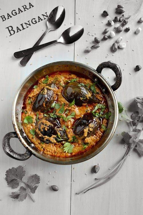 Nalini'sKitchen: Bagara Baingan/Hyderabadi Bagara Baingan - Andhra Pradesh Delicacy