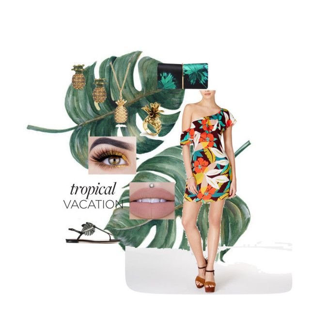 """""""Tropical hotness"""" by rosettia-burr on Polyvore featuring Valentino, Astr, Rachel Jackson, Marc Jacobs and Ann Taylor"""