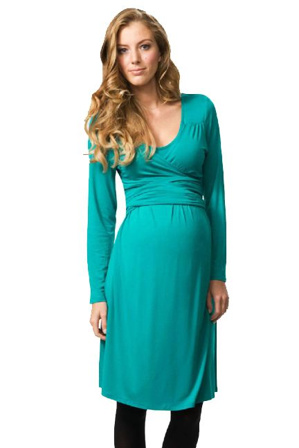 Crave Scoop Neck Maternity Wrap Dress | Maternity Clothes  Available at Due Maternity www.duematernity.com