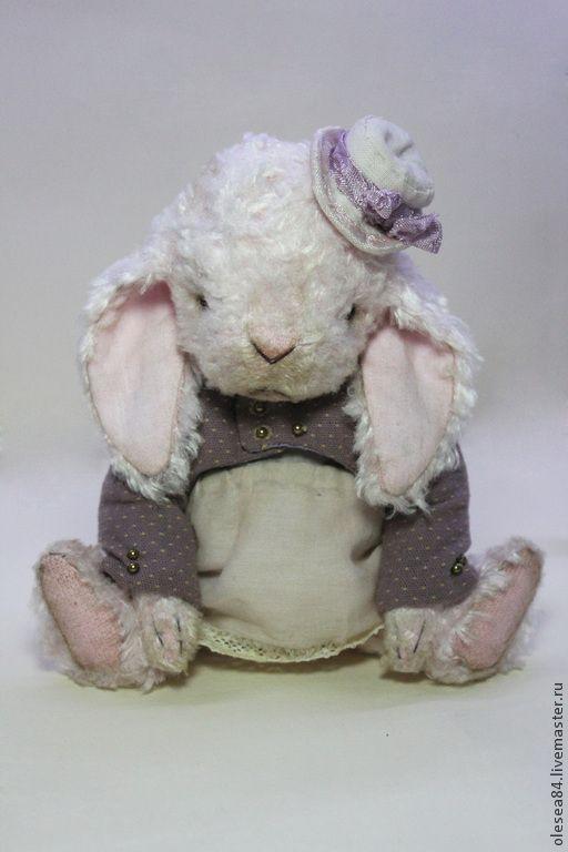 Купить Кролик Пинки - бледно-розовый, кролик, кролик игрушка, кролик тедди, маленький зайчик