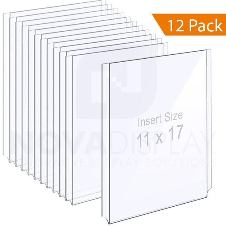 Easy Access Acrylic Holder 1 8 Clear Acrylic Frame Tabloid Format Clear Acrylic Frame Display Acrylic