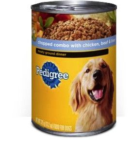 Pedigree® Traditional Ground Dinner® Chopped Combo With Chicken, Beef & Liver (Case)