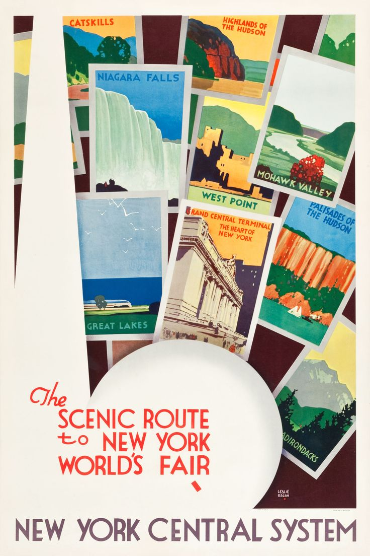 24x36 poster design - New York Central System Travel Poster Design By Leslie Ragan 1939
