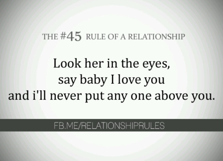 Rules of relationships