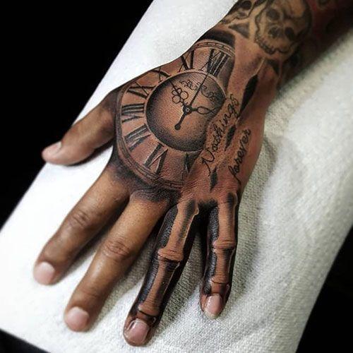 Bone Hand Tattoo – Best Hand Tattoos for Men: Cool Hand Tattoo Designs … #Tattoos