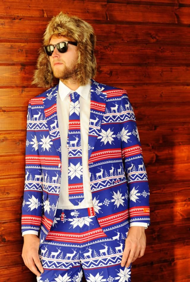 When A Sweater Won't Do, Wear An Ugly Christmas Suit: These are actual suits that you can actually buy.