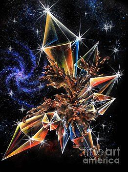 Brown Diamonds In Space By Sofia Metal Queen
