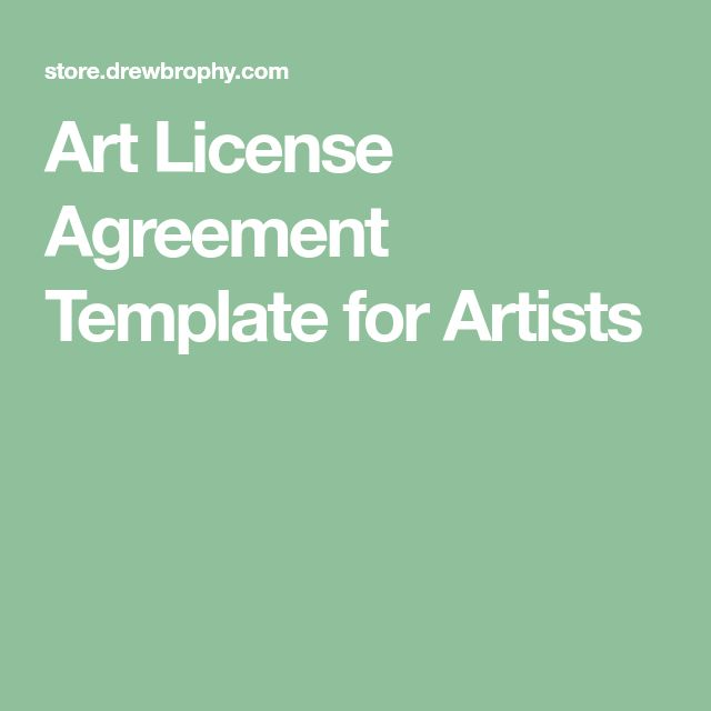 Art License Agreement Template For Artists 1 Licensing For