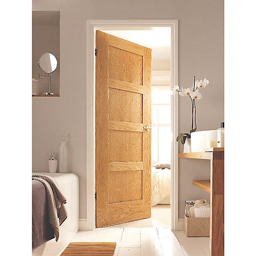 44 best doors images on pinterest exterior front doors outdoor wickes marlow internal 4 panel oak veneer door 1981 x 762mm planetlyrics Gallery