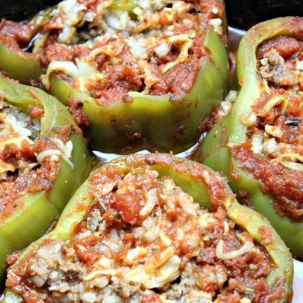 Healthy Stuffed Peppers – Crockpot Recipe | I am THAT Lady
