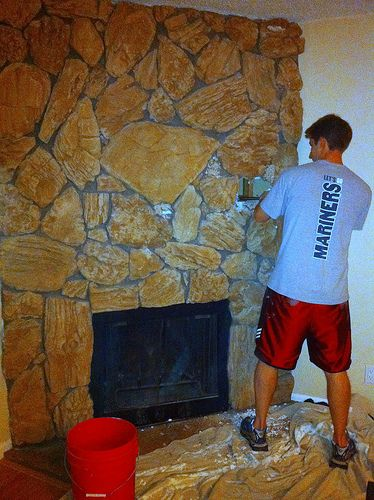 Remodeling a 70's fireplace