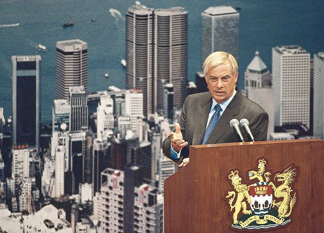 Hong Kong Governor Chris Patten.