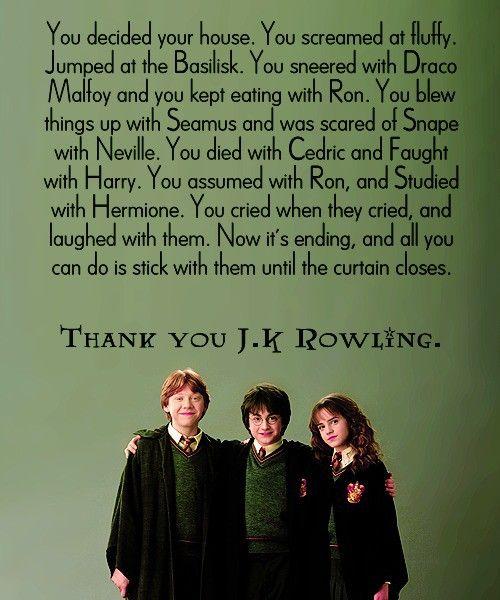 Thank You J.K Rowling