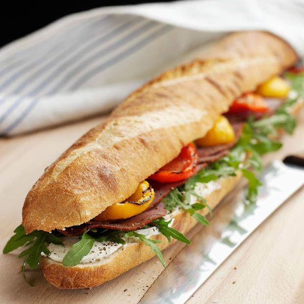 44 best 50 recettes de sandwich images on pinterest for Baguette du maison