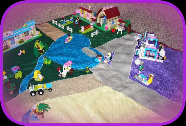 I need to make this for my girls so they can use it for playing with their Lego Friends toys. Lego's play mat is too small.