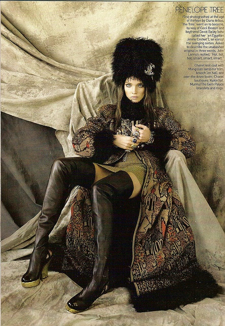 """Natalia Vodianova as Penelope Tree in Chanel - """"The Great Pretender"""" by Steven Meisel for US Vogue May 2009 by Winter Phoenix, via Flickr"""
