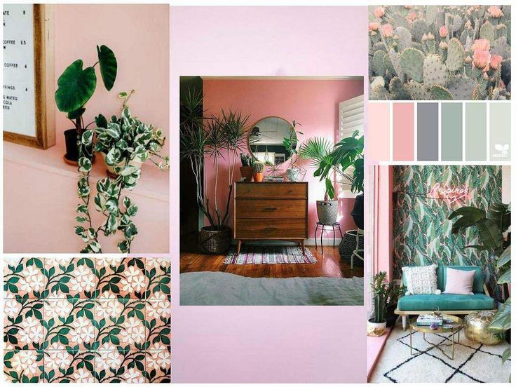 Pink and Green love affair 😍 The unusual couple stole our hearts in a heartbeat, so we had to play with it in our. Plants on pink stole our hearts in a heartbeat, so we had to play with it in our mood board creator. Keep reading and you will discover what we came up with. http://blog.sampleboard.com/2017/05/09/interior-trends-pink-green-love-affair/ @sampleboard.inspo