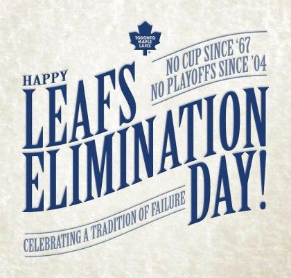 Thanks to my colleague Marc in Montreal for pointing me to this. As a diehard Leafs fan, it hurts to say it but nearly everything about the team sucks, especially the lack of pride and heart among the players.