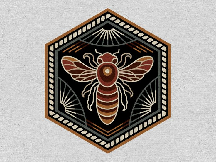 Bee Embroidered Patch