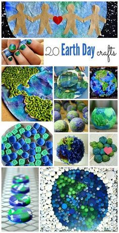20 Earth Day activities for kids ~ lots of simple crafts for kids to create with kids and celebrate Earth Day!