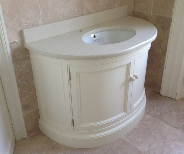 Cream Painted Curved Vanity Unit With Tigris Sand Quartz Top Www Linehansdesign Com Https Www
