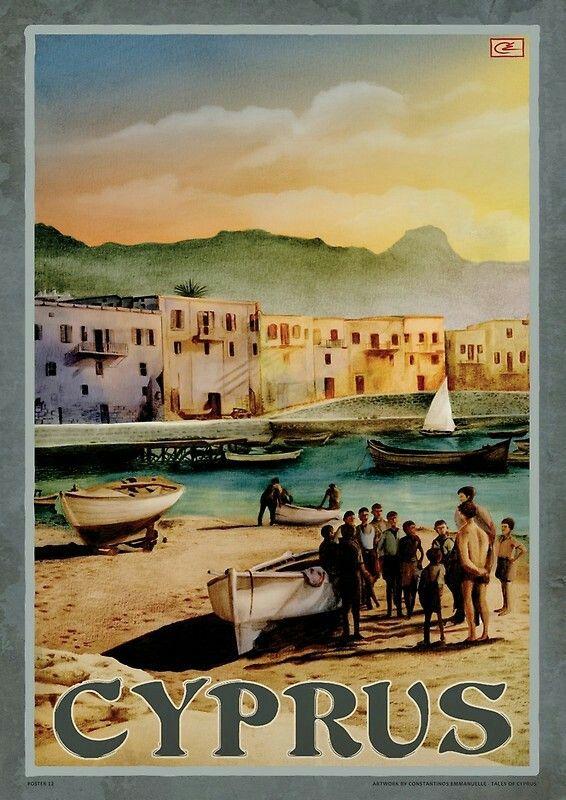 Vintage Travel Poster - Cyprus.