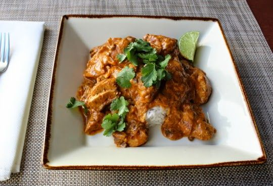 I probably get more requests for Indian food than any other ethnic cuisine, so I was very excited to be posting this chicken tikka masala;... -- I have made this with crushed tomatoes and pureed pumpkin and both are delicious. This is my go-to recipe for chicken tikka masala -- Knilly