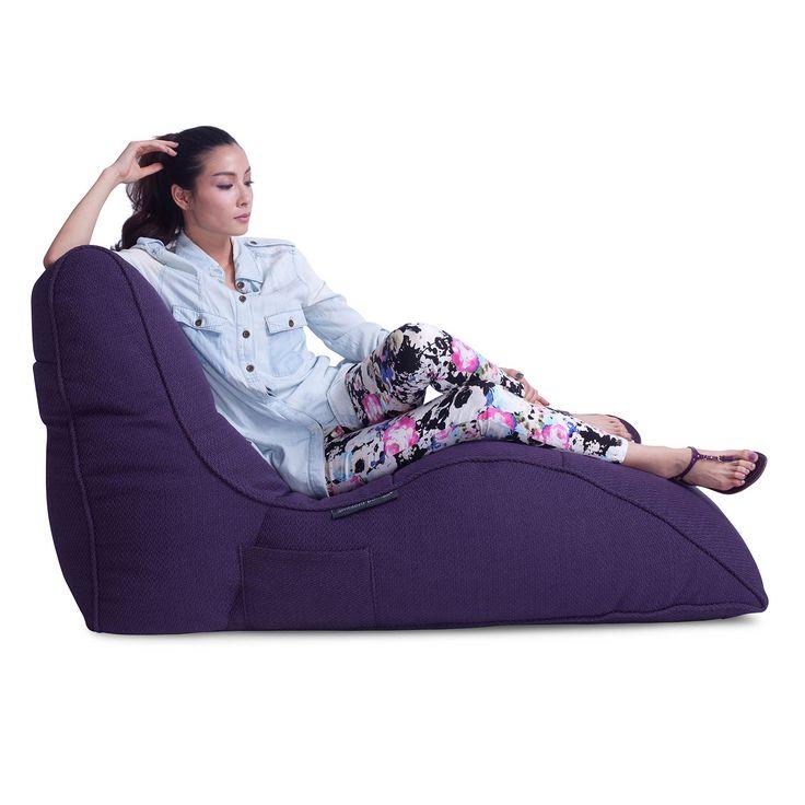 Кресло для отдыха Avatar Sofa™ - Aubergine Dream (фиолетовый) | Дизайнерское лаунж кресло для домашнего кинотеатра фиолетового цвета | Бескаркасная мебель для лаунж зон и интерьеров в стиле Contemporary