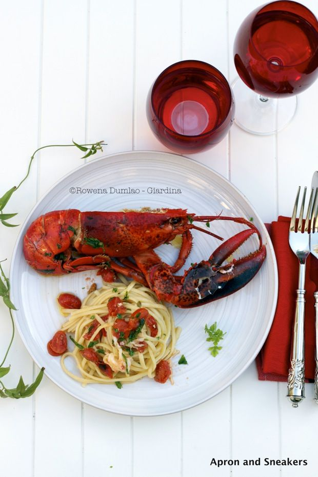 Linguine all' Astice (Lobster Linguine) from  @Rowena Dumlao Giardina | Apron and Sneakers