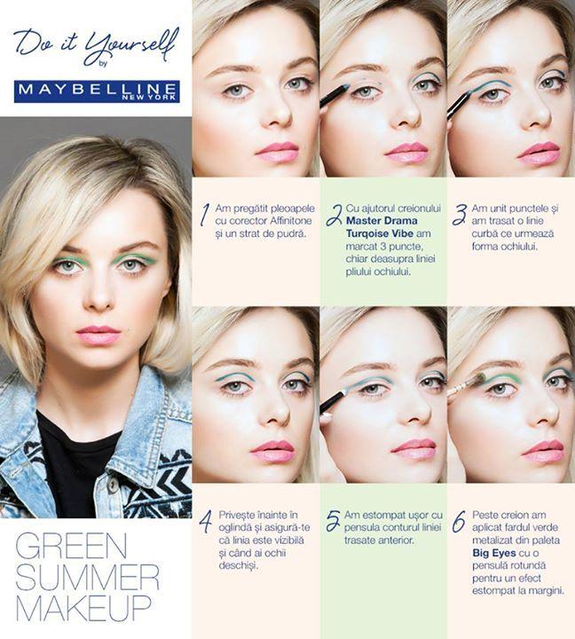 Green Summer Makeup