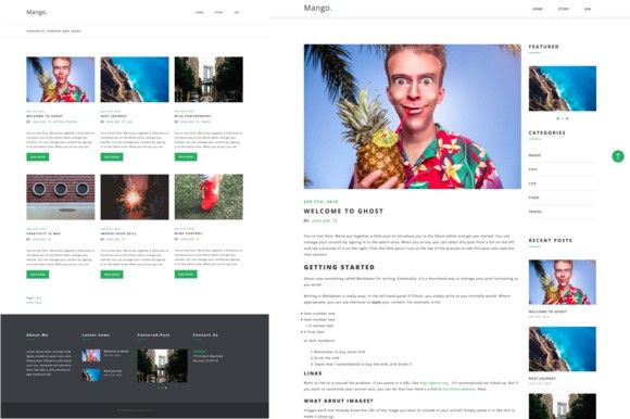 Mango - Blog Ghost Theme. Ghost Themes. $12.00