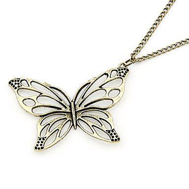 cobre antiguo hueco de salida mariposa collar – CLP $ 1.848