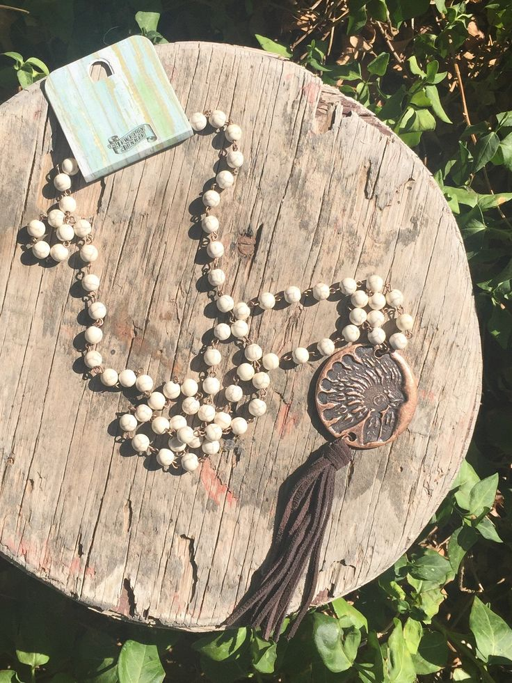 Copper Indian head dress necklace