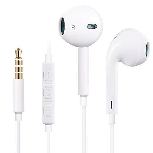 ONSON Premium Earphones/Headphones/Earbuds with Stereo Microphone&Remote Control for Apple iPhone 6S/6/6S Plus/6 PlusiPhone SE/5S/5C/5 iPad /iPod Nano 7/iPod Touch (White)