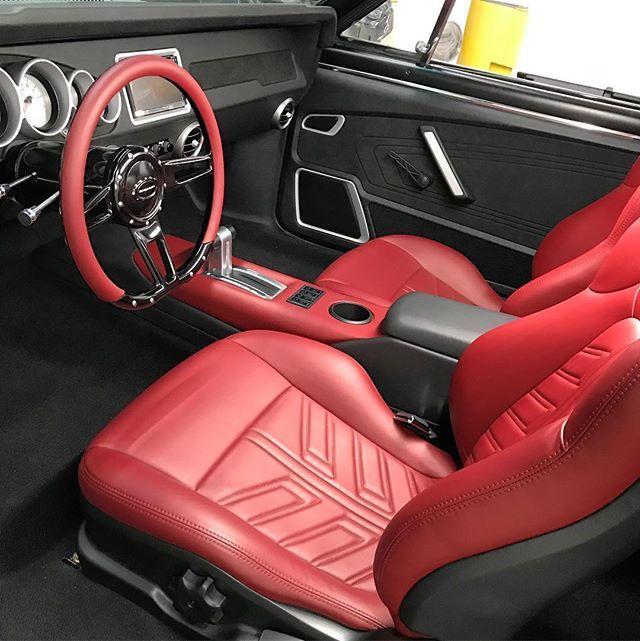 66 Chevelle seats dash interior tiburon tuscani red and