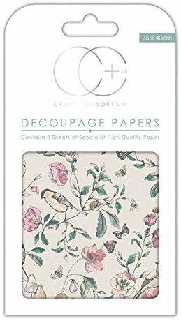 Craft Consortium Premium Decoupage Papers - English Garden
