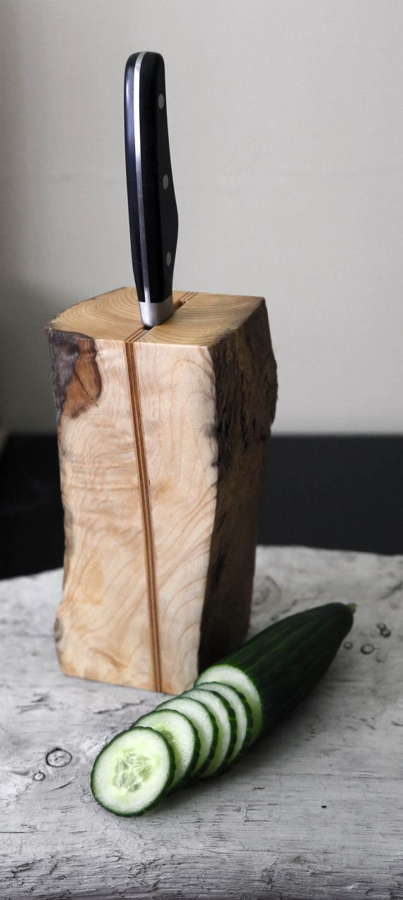 Driftwood Knife Holder. Knife Block. Scandinavian by Railis