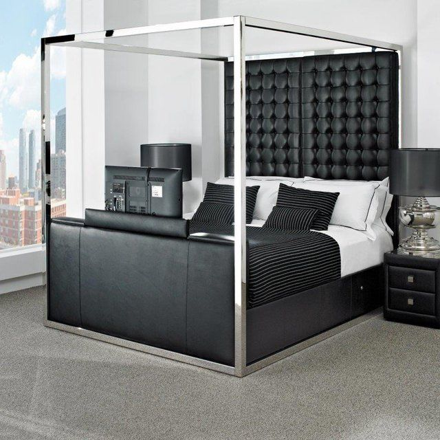 Best 25 high headboards ideas on pinterest bed for Bedroom furniture 98383