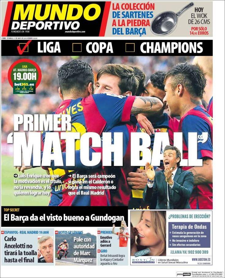 Portada Mundo Deportivo 17/05/2015 Barça hoy, Campeones