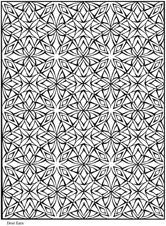 Creative Haven Lotus Designs Coloring Book Pages